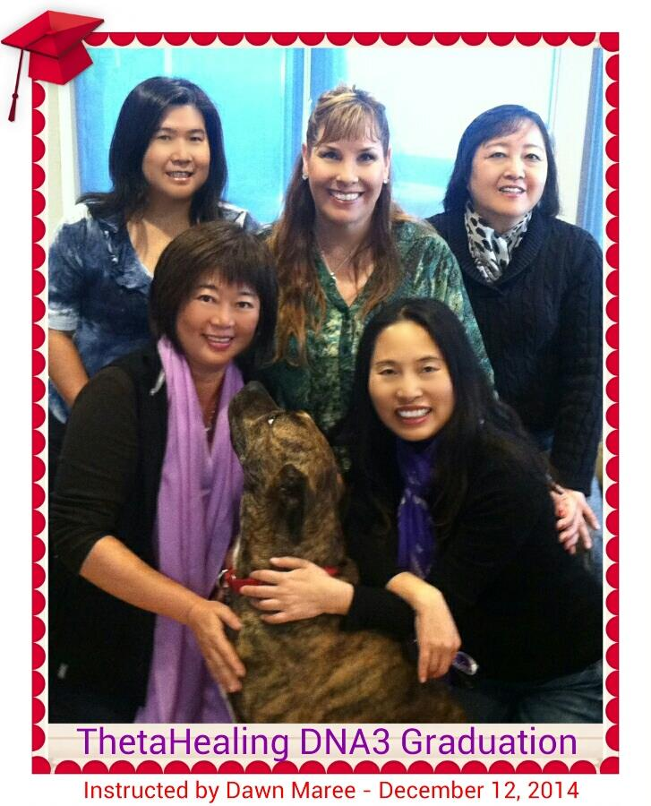 ThetaHealing DNA3 Class in Irvine, Instructed by Dawn Maree, ThetaHealing Certificate of Science, ThetaHealing Master. Hosted by Fay Liu, December 12, 2014